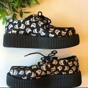 NWT EUC T.U.K platform-cats shoes